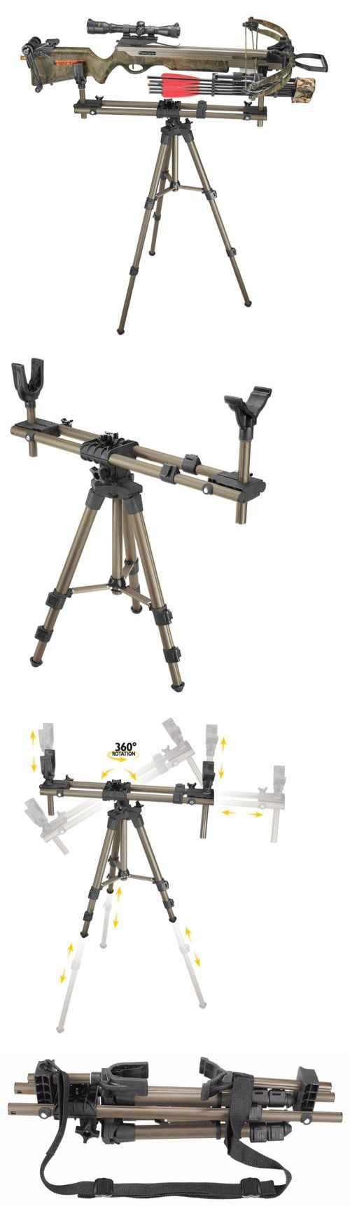 Benches and Rests 177887: Gun Shooting Rest Tripod Hunting Gun Crossbow Rifle Sniper Balance Pod Pivot -> BUY IT NOW ONLY: $97.91 on eBay!