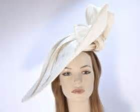 Large cream fascinator hat for Melbourne Cup Ascot Derby racing buy online in Australia - Hats ...