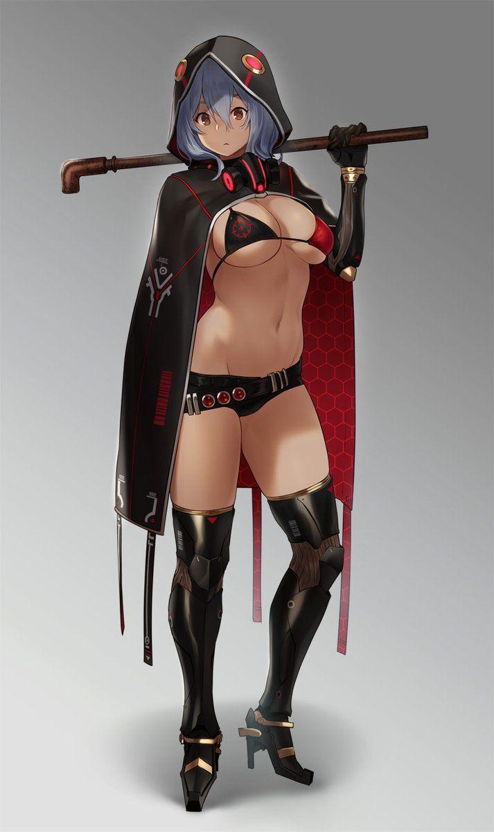 Original by Houtengeki @ twitter.com/houtengeki - More at https://pinterest.com/supergirlsart #oc #hot #sexy #anime #manga #girl #art