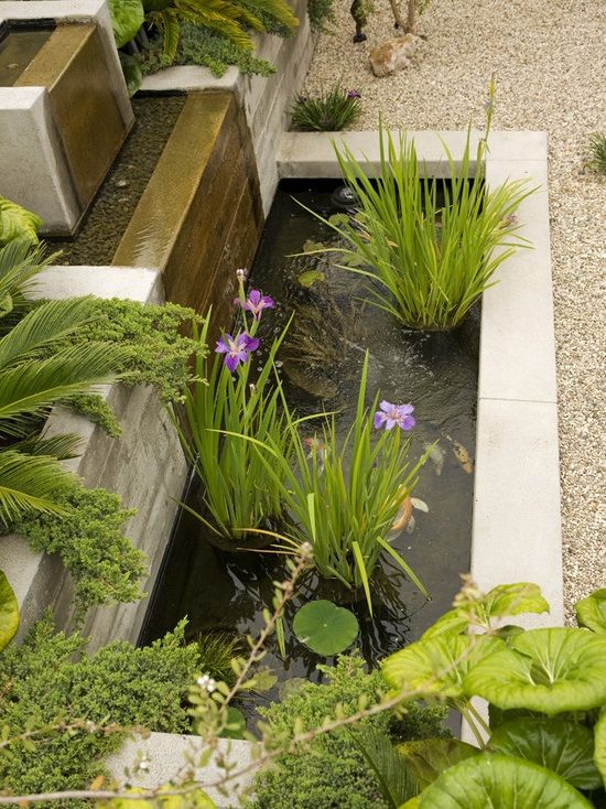Garden waterfall feature