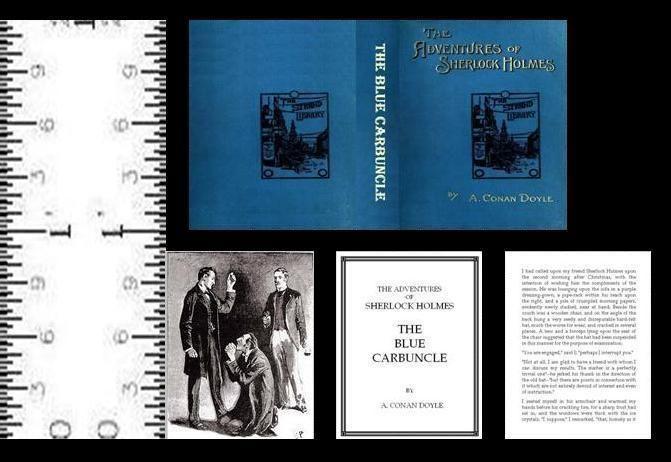1:12 SCALE MINIATURE BOOK THE BLUE CARBUNCLE ILLUSTRATED SHERLOCK HOLMES #LeeAnnBorgiaMiniatureBooks