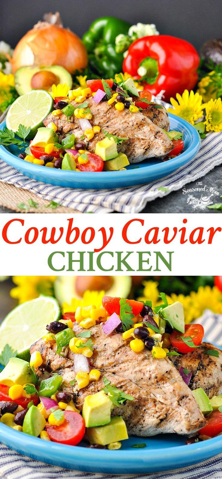 Cowboy Caviar Chicken   Salad Recipes   Healthy Dinner Recipes   Dinner Ideas   Easy Dinner Recipes   Salsa Recipes   Fresh Tomatoes   Corn   Clean Eating   Grilled Chicken   Chicken Breast Recipes   Healthy Recipes Easy