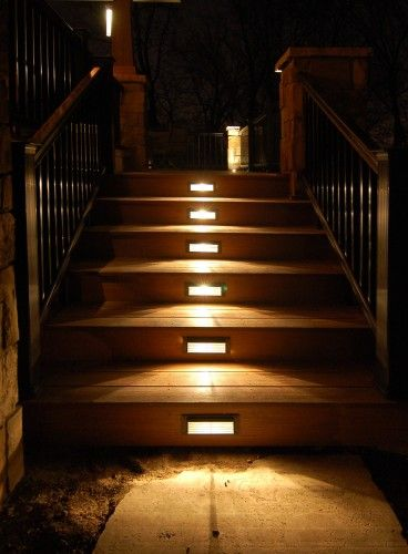 like this lighting for back porch stepsIdeas, Porches Step, Step Lights, Stairs Lights, Porches Design, Modern Porches, Covers Porches, House, Outdoor Lights