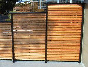 Deck Privacy Panels | Dek Rail deck Railing frame full or semi privacy panel options