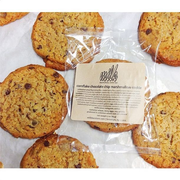 Cornflake Chocolate Chip Marshmallow cookies from Momofuku Milk Bar. Learn about founder Christina Tosi's journey to bakery own in our video series with Glamour, The Making of Me.