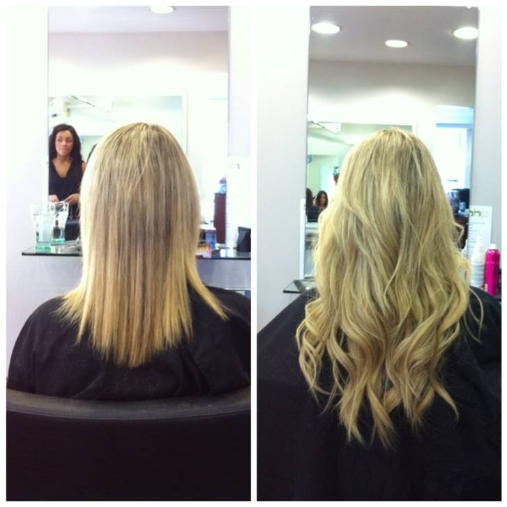 Before & After. Using Balmain Hair extensions - Double Hair