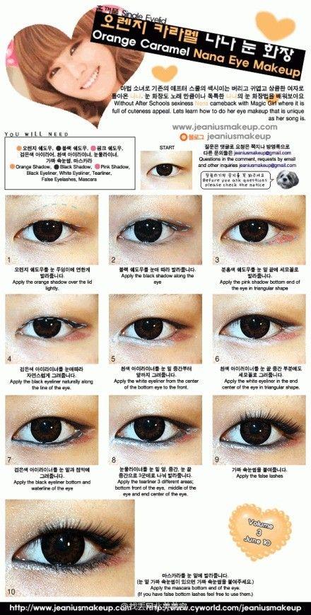 range, pink, and black eyeshadow each one, black and white eyeliner each one