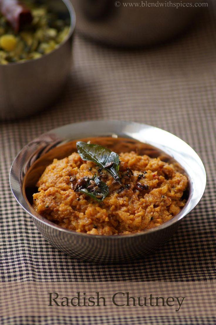 Indian Cuisine: Mullangi Pachadi Recipe - Andhra Style Radish Chut...