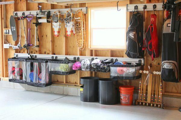 Garage Organization Makeover - gladiator storage rack