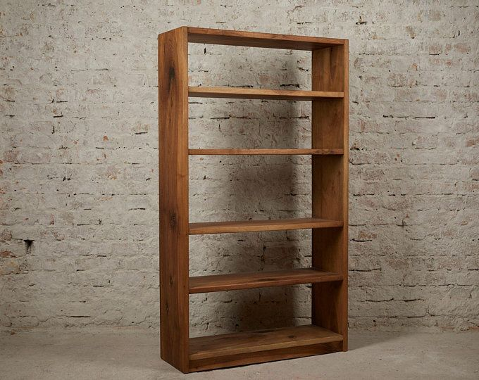 Industrial Narrow Bookcase Solid Wood Bookcase Wood Bookshelf Industrial Metal Bookcase Wood Narrow Bookcase Modern Shelving Unit Ibsen In 2020 Wood Bookshelves Vintage Crates Bookshelves