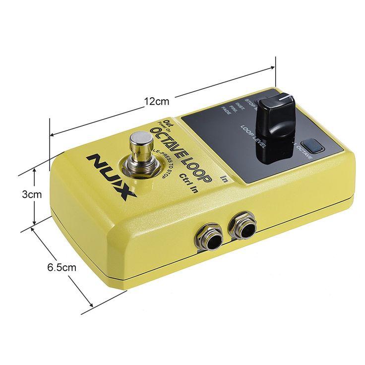NUX OCTAVE LOOP Guitar Loop Pedal Looper 5 Minutes Recording Sales Online yellow - Tomtop.com