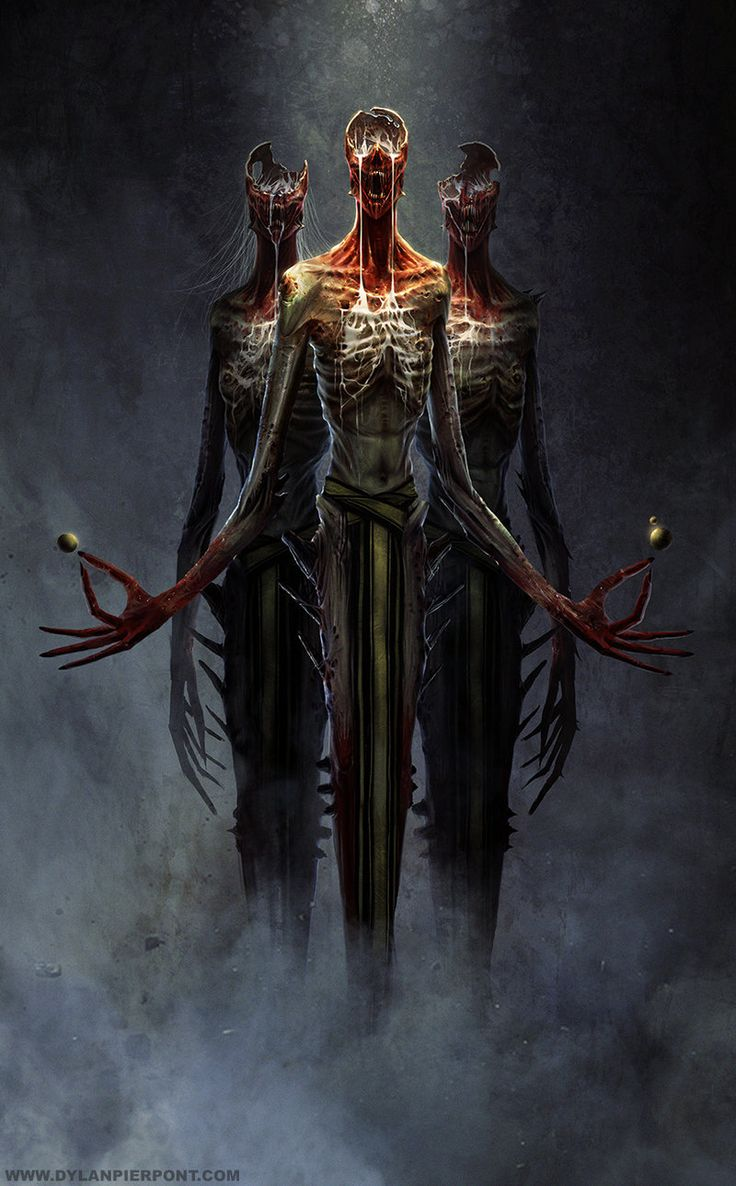 """DylanPierpont - -If the ravak they had been before were horrifying, these creatures were unfathomable. Their bodies had been stretched out of proportion, their flesh stripped and melded so that the ribs showed. Chasms had been scooped from their skulls. They moved with an eerie gliding, so different from the ravak's jerking strides - but no less terrifying. """"What are they?"""" I gasped. His expression was grim. """"Nevar'im."""" -"""