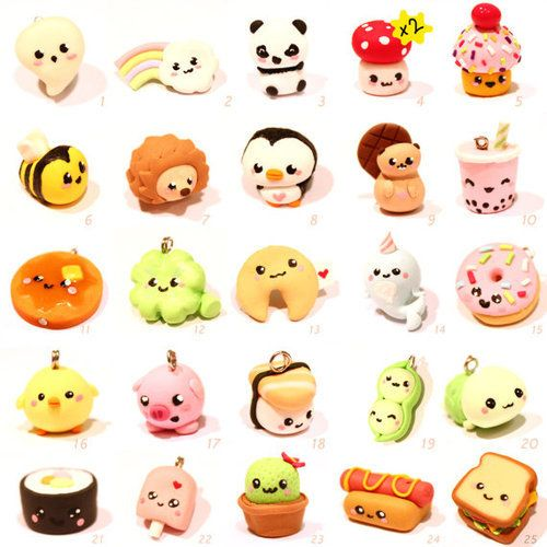 awesome creations                                          Polymore Clay Charms | via Tumblr