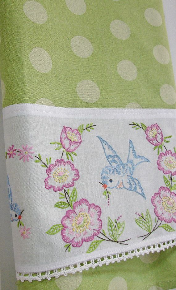 Vintage Recycled Pillowcase to Upcycled Tea by TwoGirlsLaughing, $24.00