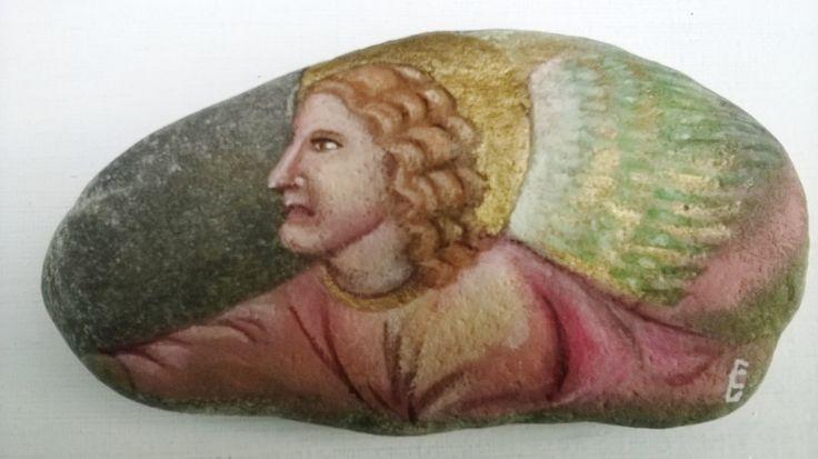Image of Giottini Angelo annuziatore fondo pietra e oro