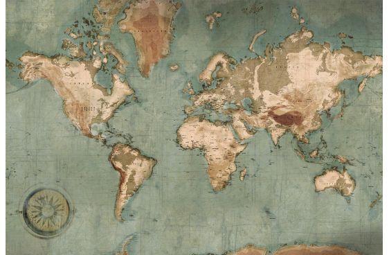 Carte du monde géante en papier peint
