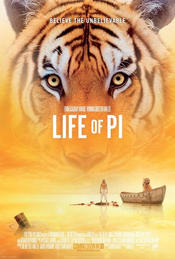 Life of Pi is een stereoscopische film uit 2012. Het verhaal is gebaseerd op het gelijknamige boek van Yann Martel. De film werd geregisseerd door Ang Lee. Naast echte dieren is er gebruikgemaakt van digitale animatie