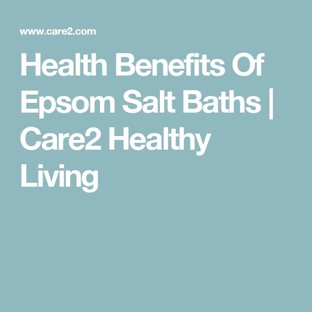 Health Benefits Of Epsom Salt Baths | Care2 Healthy Living