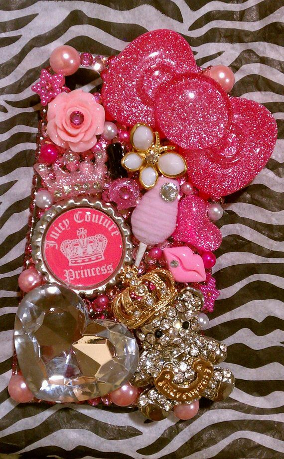 Custom Juicy Couture pink cell phone case by PrettyGirlCouture4u, $115.00
