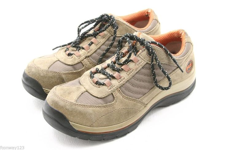 Timberland Pro womens Shoes Size 7.5 W Riveter brown suede work steel toe #Timberland #WorkSafety