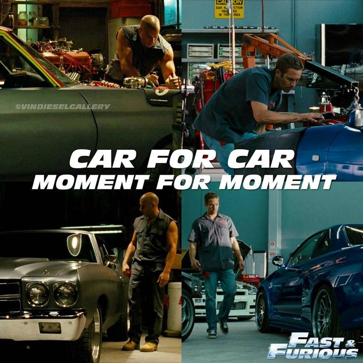 Vin Diesel Stills @vindieselgallery - Car for car, moment for m...Yooying