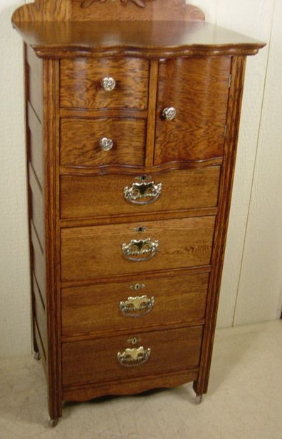 Antigue Oak Lingerie Chests Rare Oak Bonnet Lingerie