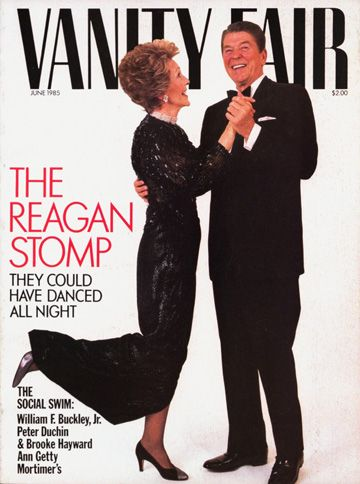 Ronald and Nancy Reagan on the cover of Vanity Fair