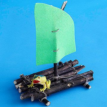 how to make a floating boat with popsicle sticks
