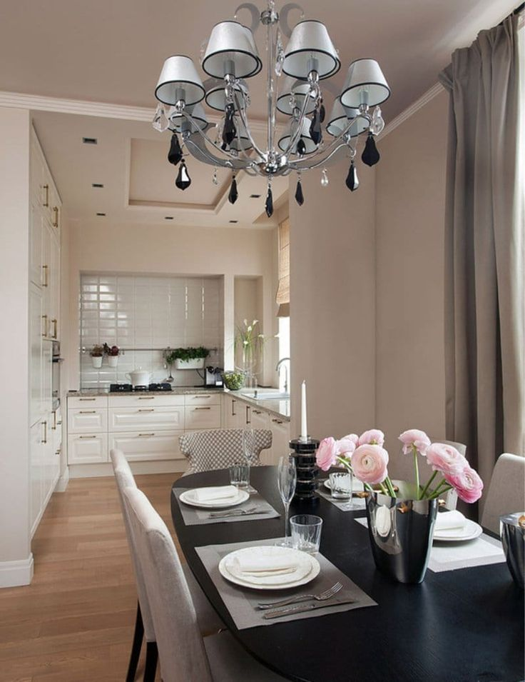 Beige color in the interior of the kitchen