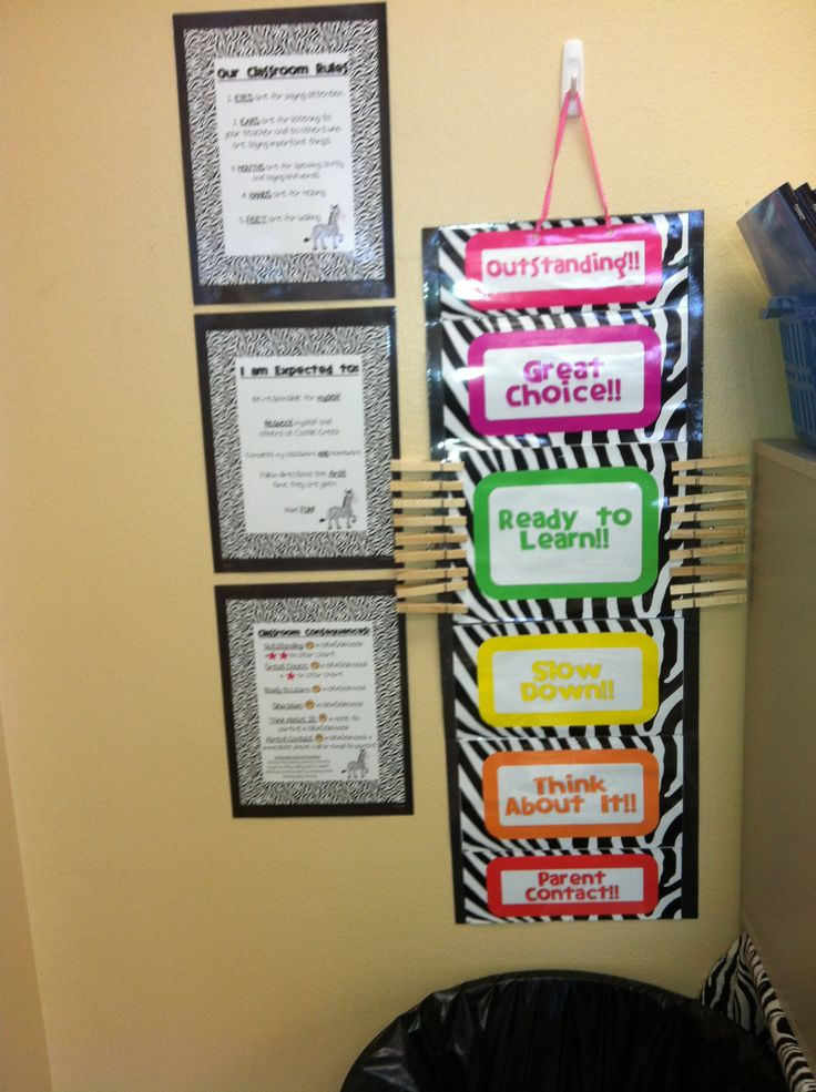 Classroom Organization Ideas Pictures ~ Behavior chart rules expectations and consequences