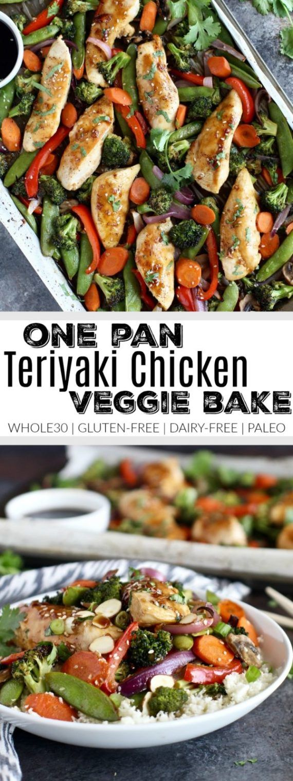 One Pan Teriyaki Chicken Veggie Bake Recipe Protein