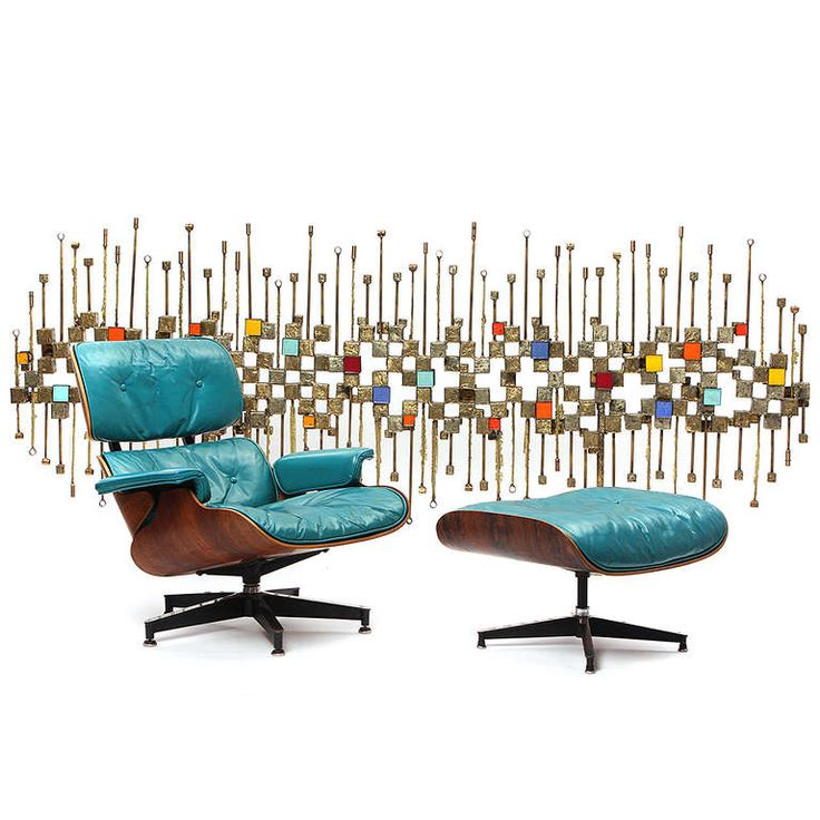Eames Lounge Chair In Turquoise Blue!
