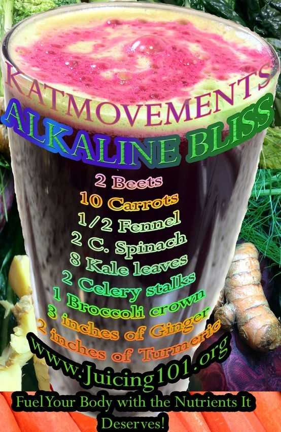I ate something like this at Raisin Rack Natural Foods store...the ginger makes your body warm. ALKALINE BLISS JUICE RECIPE  To Your Health! Kat =^.^=  http://www.facebook.com/JUICING101  http://pinterest.com/katmovements
