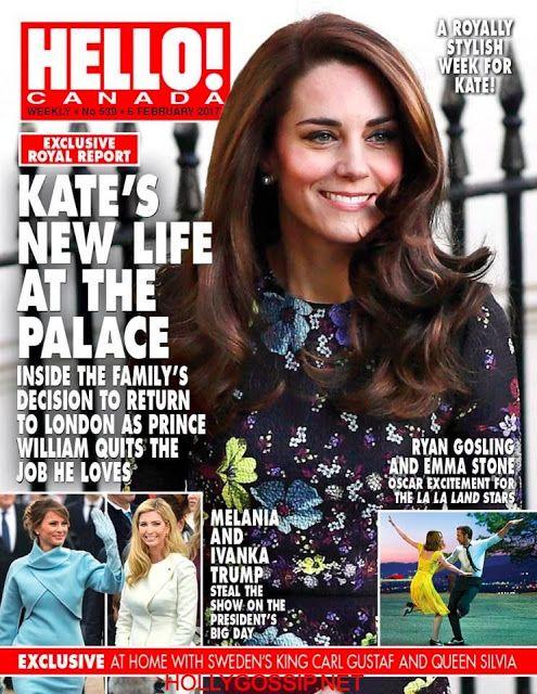 Catherine Duchess of Cambridge Kate Middleton  Covers Hello! Magazine [Canada] (6 February 2017 http://ift.tt/2mOMrnU