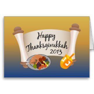 Happy Thanksgivukkah 2013 Dreidl/Turkey Card