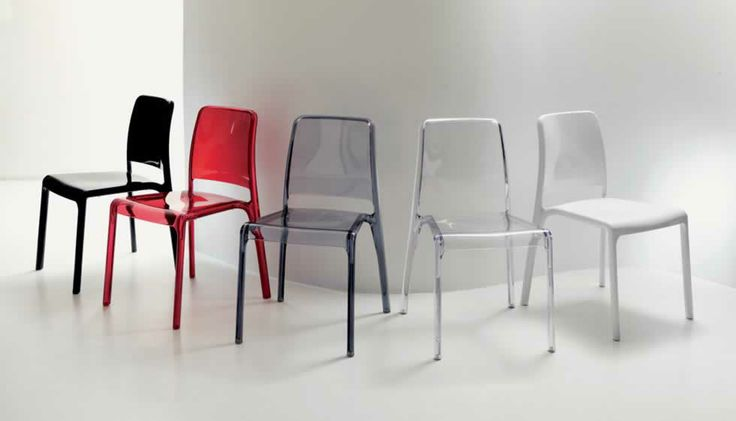 HOLE, design: Robby Cantarutti- Polycarbonate injection moulded stackable chair, available with optional upholstered eco-soft leather cushion. www.ozzio.com