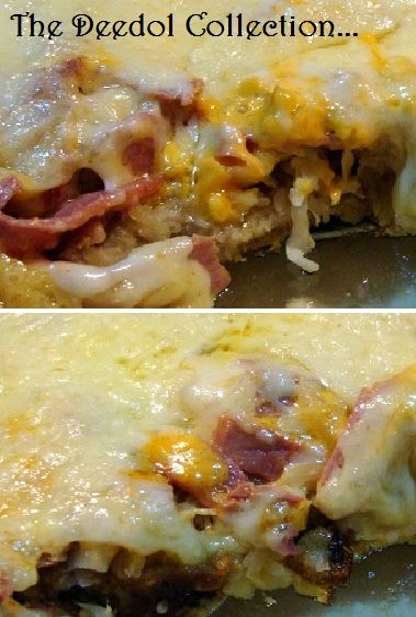 Granny's Reuben Casserole 6 slices rye bread, cubed 16 ounce can sauerkraut, drained 1 pound deli sliced corned beef, cut into strips 3/4 cup thousand island salad dressing 2 cups shredded Swiss ch…
