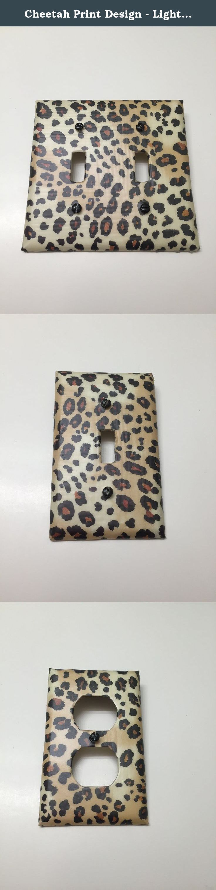 Cheetah Print Design - Light switch plates, Light switch covers, outlet covers, outlet plates, MULTI DESIGN, animal print, home decor, wall art. Fashion forward designs that just a pop of color where you did not think it would matter! Looks like a little piece of art décor on the wall. Each plate will includes - a hand painted coordinating screw for to compliment each design. (some are white/cream or colored depending on the design and color or paper used). Most covers are hand made to...