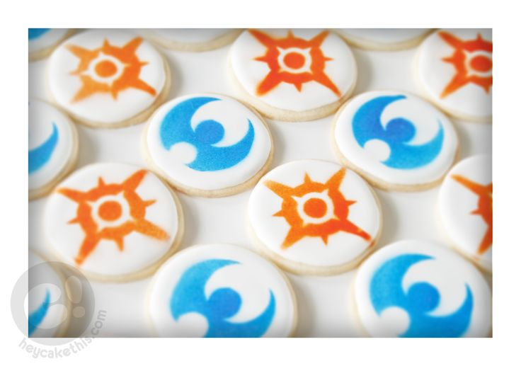 Pokemon Sun and Moon cookies made for the release of the newest Pokemon game