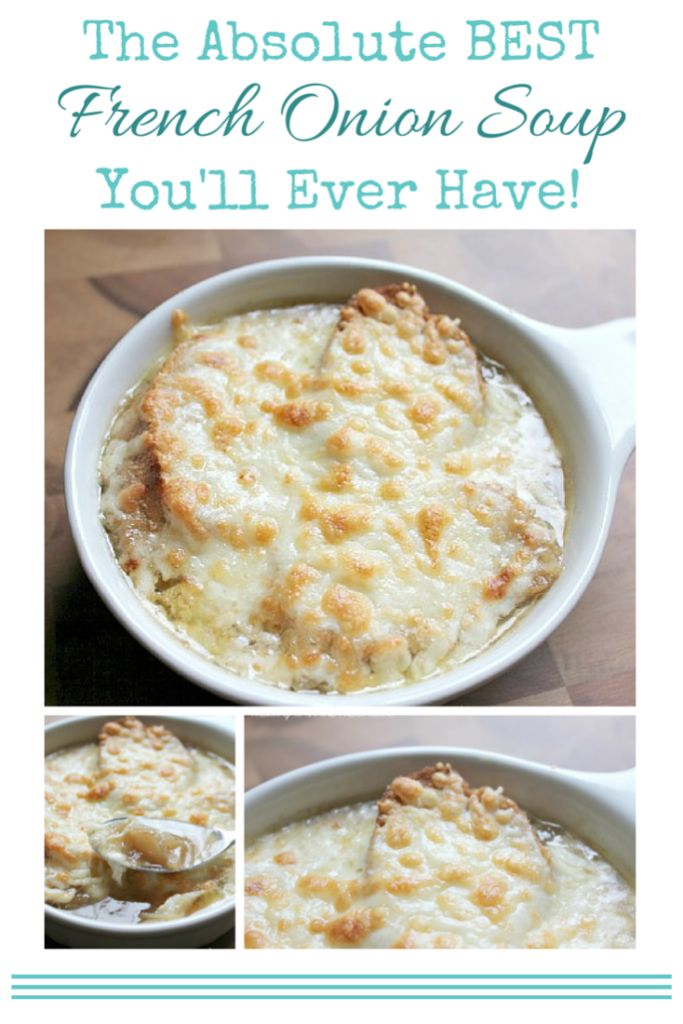 The BEST French Onion Soup recipe! Add this to your Fall and Winter recipes collection to keep you warm!!