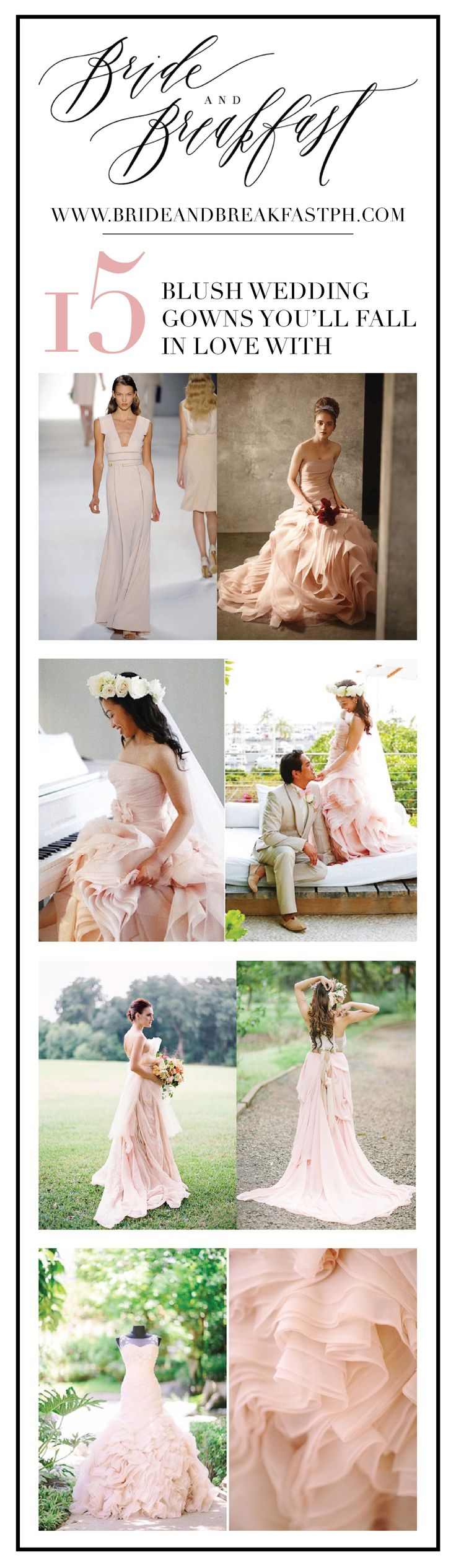 15 Blush Wedding Gowns You'll Fall In Love With   Tips and Trends
