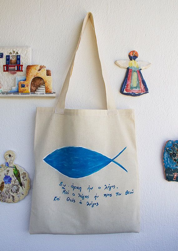 HAND PAINTED Cotton Tote Bag / Shopping bag / Cotton Bag hand painted on bag,our design. its unique for you.  Every model paints then we list it,