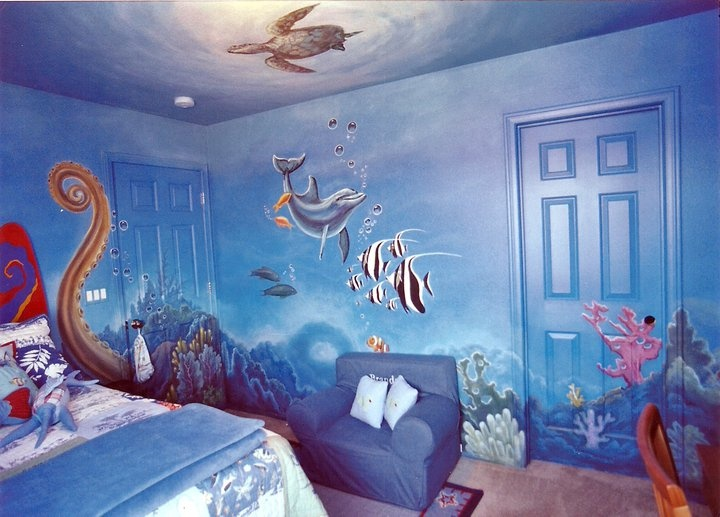 10 best kidslife ocean or sea theme images on pinterest for Under the sea bedroom designs
