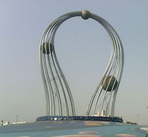 "Al-Falak Roundabout in Jeddah, Saudi Arabia (AKA to American Expats ""The Fallopian Tubes"")....aka is hilarious. XD"