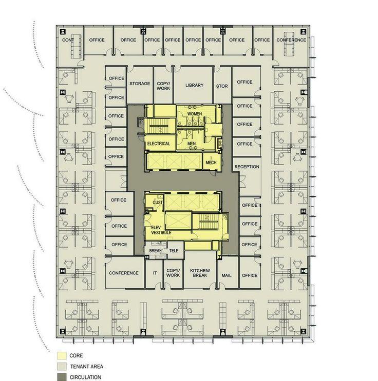 107 best floor plans images on pinterest floor plans for Typical office floor plan