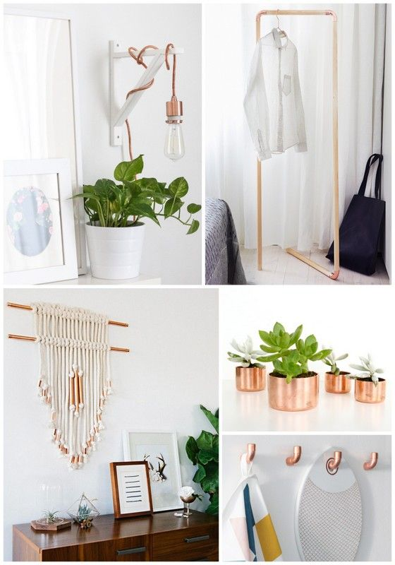 Copper is the new gold, and these ten DIY projects for the home will have you at the decor forefront in no time!