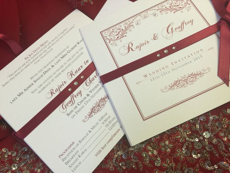 Bespoke Wedding Invitations: 8 Best Images About Red Hot Indian Chequebook And Trifold
