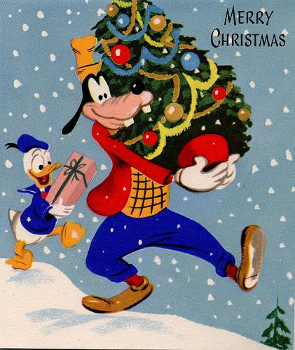 Vintage Goofy Xmas Card | Flickr - Photo Sharing!