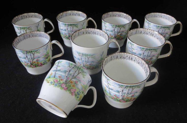 Royal Albert Silver Birch - Coffee Mugs -