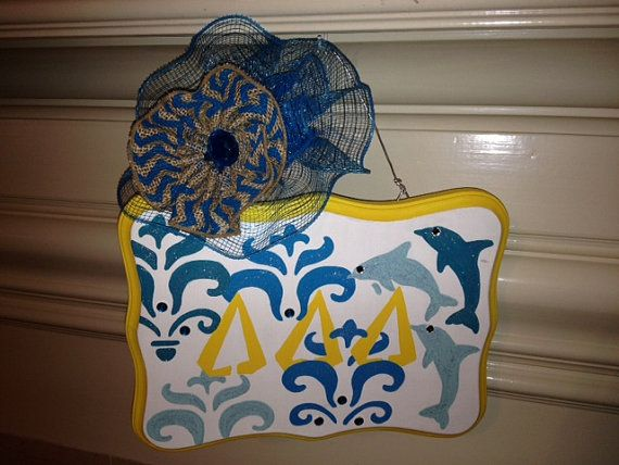 Tri Delta Greek Sorority Decorative Door/Wall by themesations, $24.00